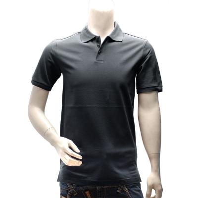 Y-3  adidas山本耀司經典LOGO素面純棉立領短袖POLO衫(深灰)
