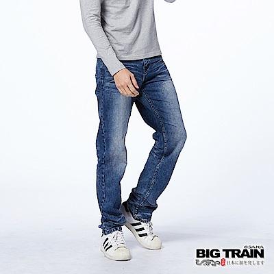 BIG TRAIN 家徽直筒褲-男-深藍