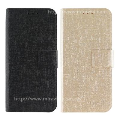 Miravivi Samsung Galaxy S8/S8+金屬紋側立皮套
