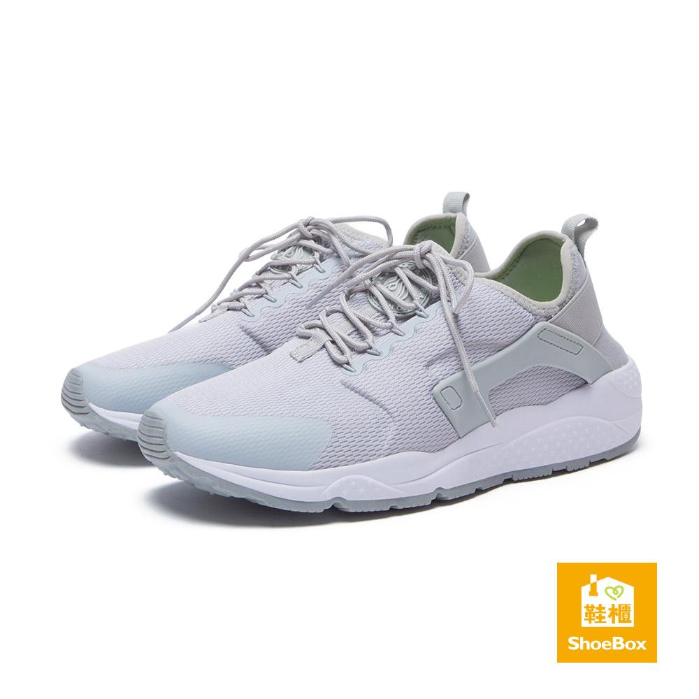 達芙妮DAPHNE ShoeBox系列-男鞋-休閒鞋-異材質拼接綁帶運動鞋-灰