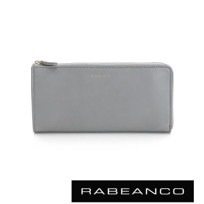 RABEANCO 迷時尚系列多格層拉鍊長夾 - 淺灰