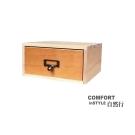 CiS自然行實木家具 收納盒-工業風-小框M款+1抽屜(溫暖柚木色)