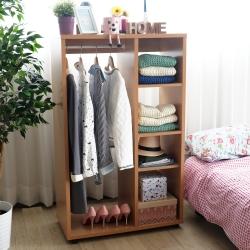 EASY HOME-開放式可移動加厚收納衣櫃附收納盒-80x39x129cm