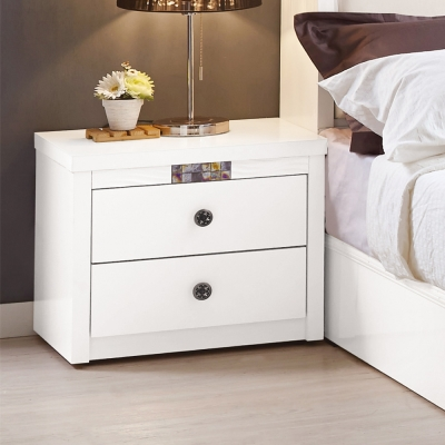 Boden-羅克莎1.7尺白色床頭櫃-52x40x46cm