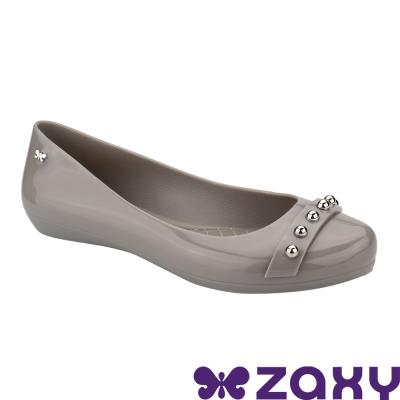Zaxy 巴西 女 搖滾甜心平底娃娃鞋-灰色