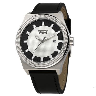 Levi-s-格紋不敗時尚腕錶-銀-42mm