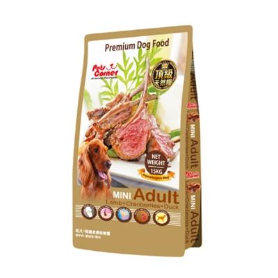 沛克樂 Pets Corner 頂級天然糧羊肉 保護皮膚低敏餐15kg(小顆粒)