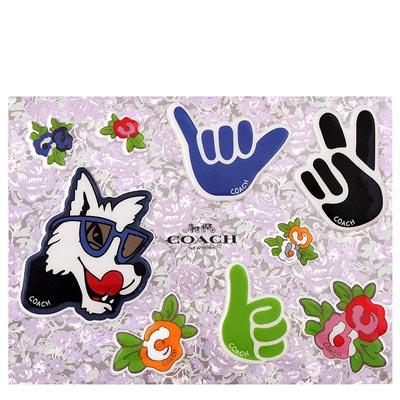 COACH Disney狗狗立體泡棉貼紙
