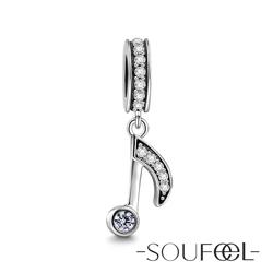 SOUFEEL索菲爾 925純銀珠飾 八分音符 吊飾