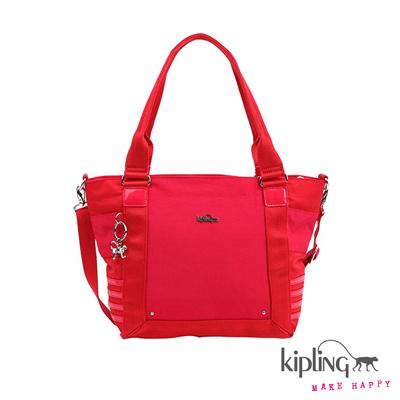 Kipling-手提包-戀人紅素面
