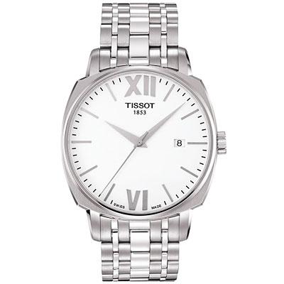 TISSOT T-Lord 都會紳士機械腕錶-銀/40mm T0595071101800