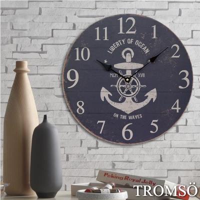 TROMSO無框畫時鐘-工業老船長圓形