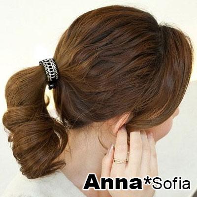 AnnaSofia 鎖鏈網紋 純手工圓夾髮夾(銀系)