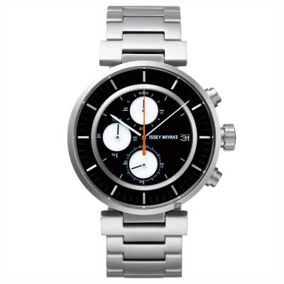 ISSEY MIYAKE 三宅一生 W 系列計時手錶(SILAY001Y)-黑x銀/43mm