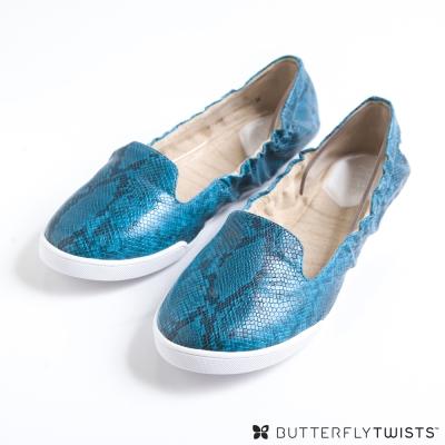 BUTTERFLY TWISTS-JADE可折疊扭轉芭蕾舞鞋-蛇紋藍綠 @ Y!購物