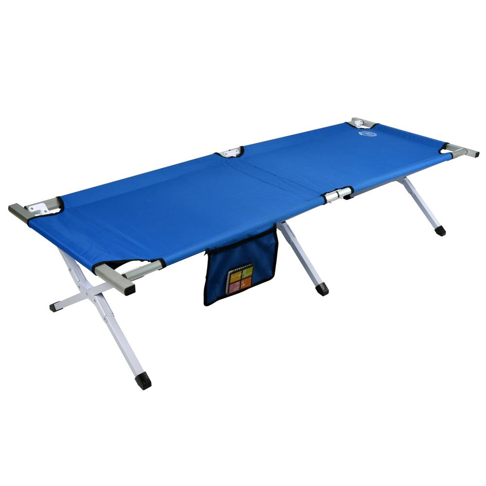 LIFECODE豪華版高承重鋁合金行軍床/折疊床(附置物袋)