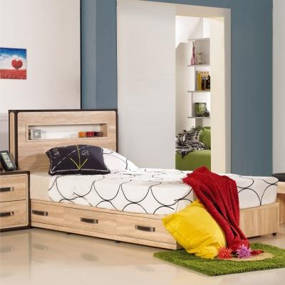 居家生活 溫德莎3.5尺單人三抽床底(不含床頭片.床墊)
