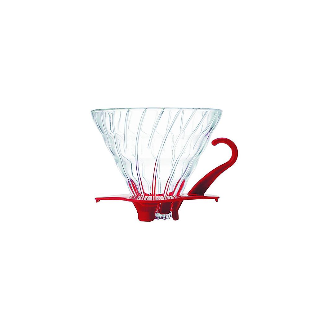 HARIO-V60紅色02玻璃濾杯1~4杯 / VDG-02R