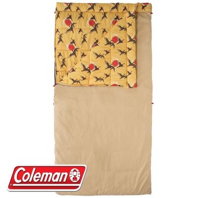 Coleman CM-32351 芥末黃 懷舊睡袋/C5 適溫5度 雙撚棉布
