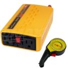 omax台製專業級500W+USB汽車電源轉換器+高級胎壓表-急速配