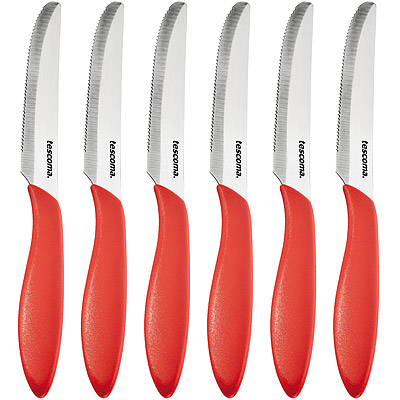 TESCOMA Presto鋸齒餐刀6入(紅)