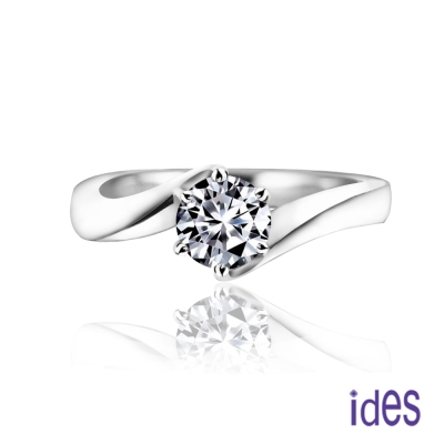 ides愛蒂思 設計款50分E/VVS1八心八箭完美車工鑽石戒指求婚結婚戒/變化六爪