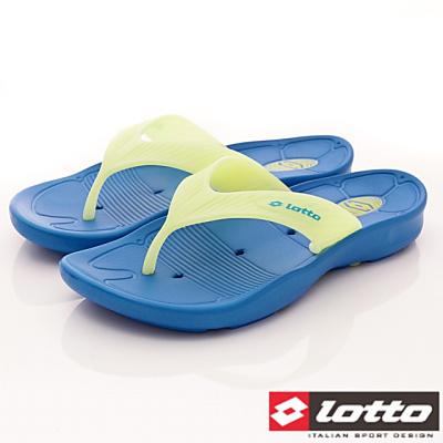 Lotto樂得-星際夜光拖鞋-FI726藍夜光黃(男段)