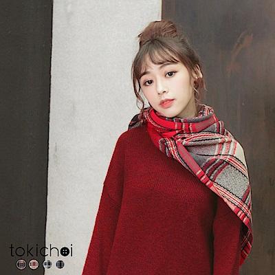 東京著衣 多色英倫學院風格子圍巾(共四色)