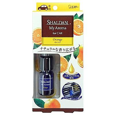 日本雞仔牌 SHALDAN精油冷氣孔夾式芳香消臭劑-柑橘