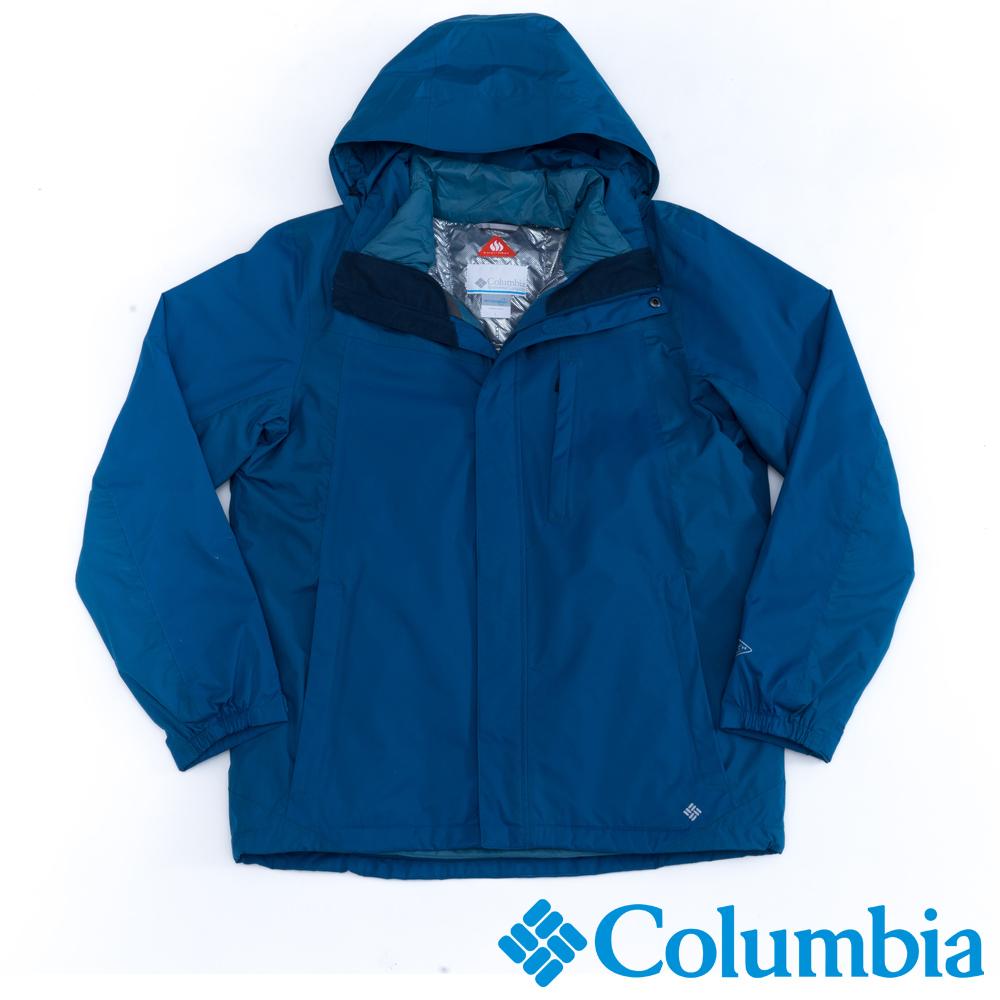 Columbia哥倫比亞  男款-羽絨兩件式外套-藍色 UPM78840BL