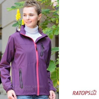【瑞多仕】女款 2.5 layer 防水透濕夾克_RAW106 茄紫色 V1