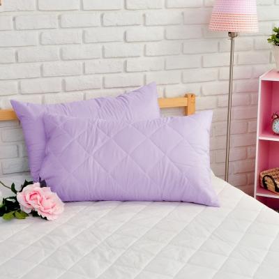 亞曼達Amanda 亮妍粉彩 枕頭保潔墊 浪漫紫(2入)