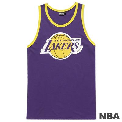 NBA-洛杉磯湖人隊運動風長版背心-紫-女