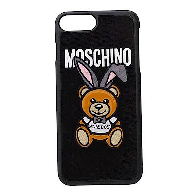 MOSCHINO PALY BOY聯名熊熊尼龍布面材質I Phone 7Plus 手機殼