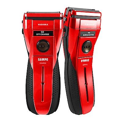 【SAMPO 聲寶】聲寶勁能水洗式雙刀頭電鬍刀(買一送一)