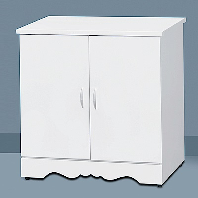 AS-卡蜜拉白色開門式斗櫃-76x57x80cm