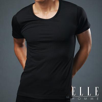 ELLE HOMME 吸濕排汗T恤《超值2件組》 黑色