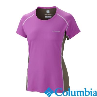 【美國Columbia哥倫比亞】酷涼防曬30快排短袖-女-桃(UAL65800FC)