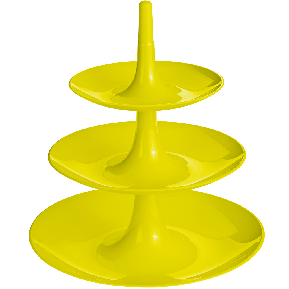 KOZIOL Babell 3層式點心盤(綠L)