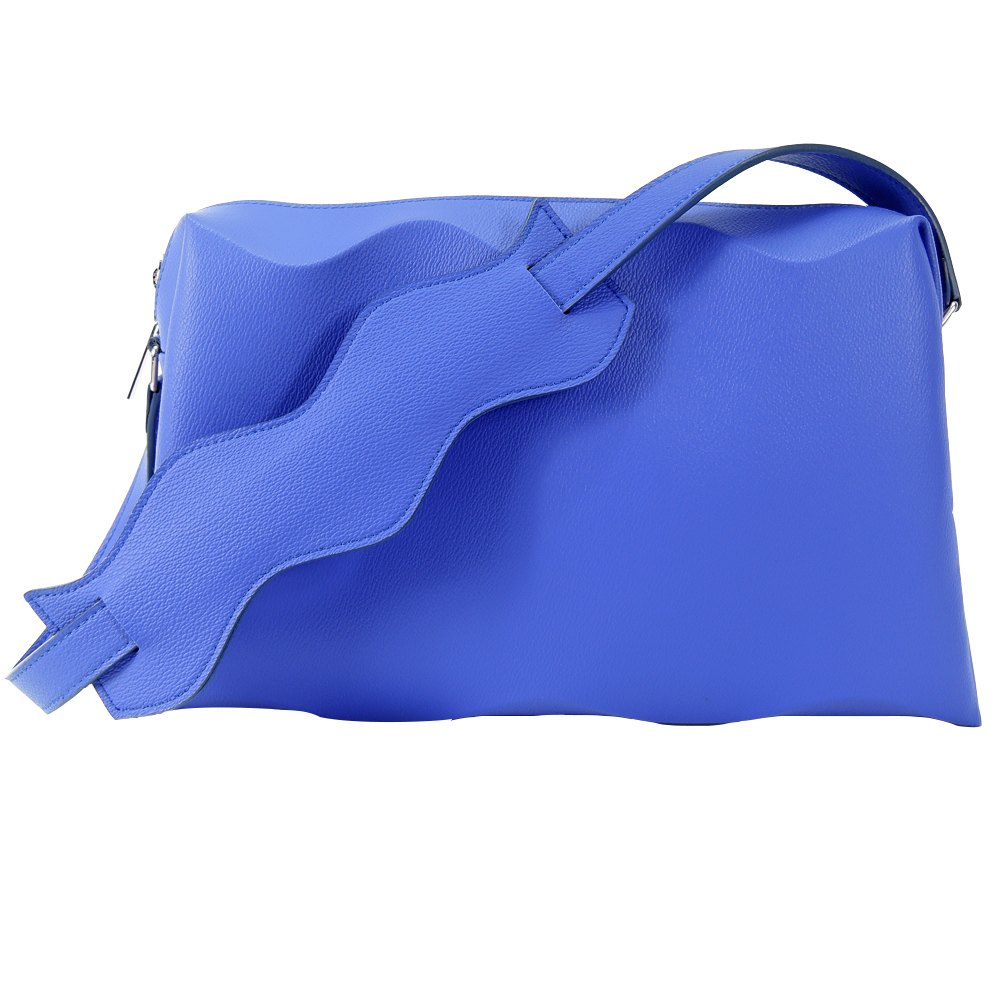 ISSEY MIYAKE 三宅一生PLEATS PLEASE甲殼WAVE側肩背(藍) product image 1