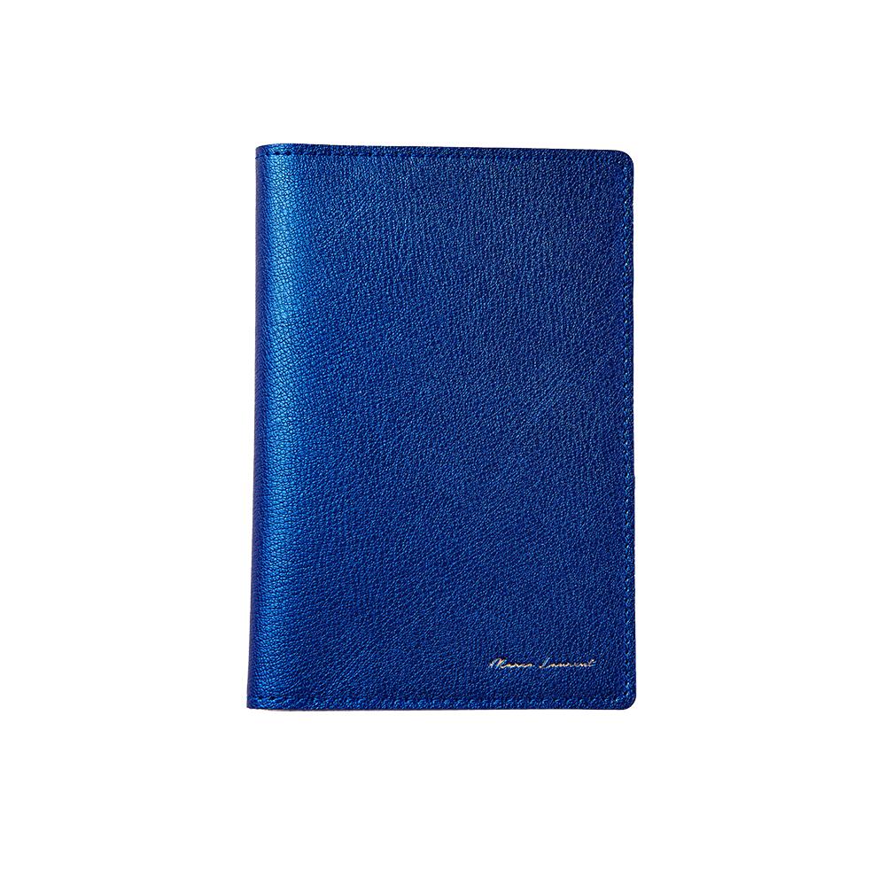 MARCO LAURENT Amanda真皮護照套-珠光藍