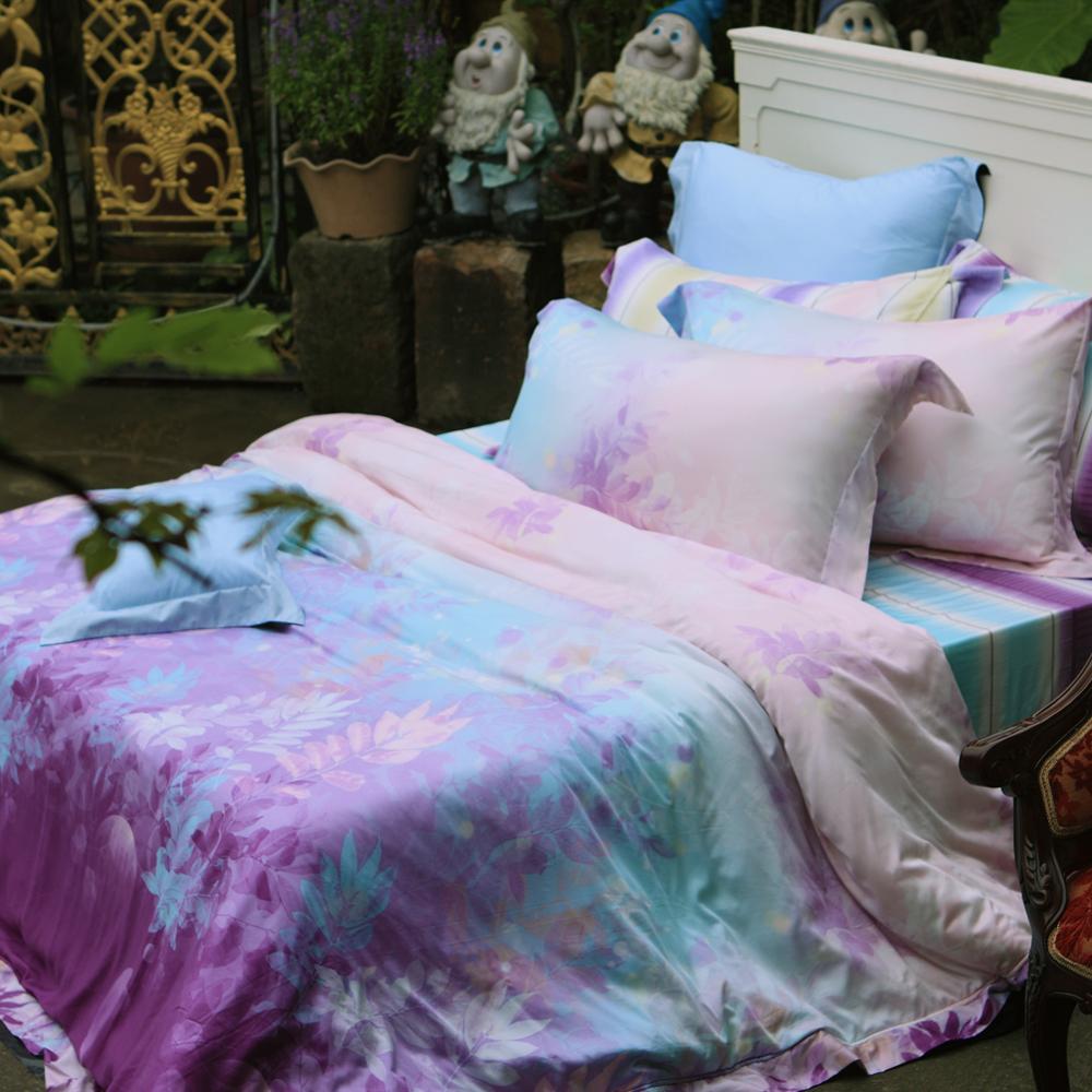 義大利La Belle 璀璨晶艷 加大天絲四件式舖棉兩用被床包組