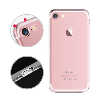 水漾 iPhone7 (4.7吋)一體全包式帶防塵塞透明TPU手機軟殼