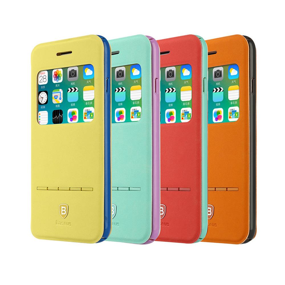 BASEUS Apple iPhone 6/6S 簡約皮套(青春款)