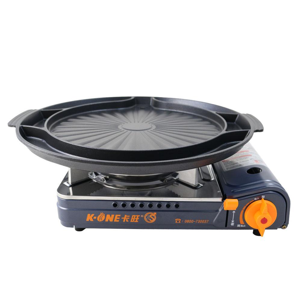 卡旺K1-A002SD雙安全卡式爐+韓式多功能烤盤ST-1600P