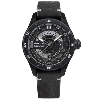 elegantsis x JSK moto JX65AS 聯名機械錶-闇夜黑/48mm