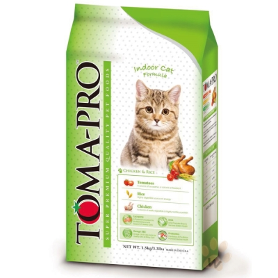 TOMA-PRO優格 室內貓 低活動量配方 (雞肉+米) 7kg