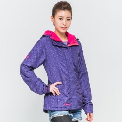 FIVE UP(女)-極暖連帽鋪棉外套-深紫