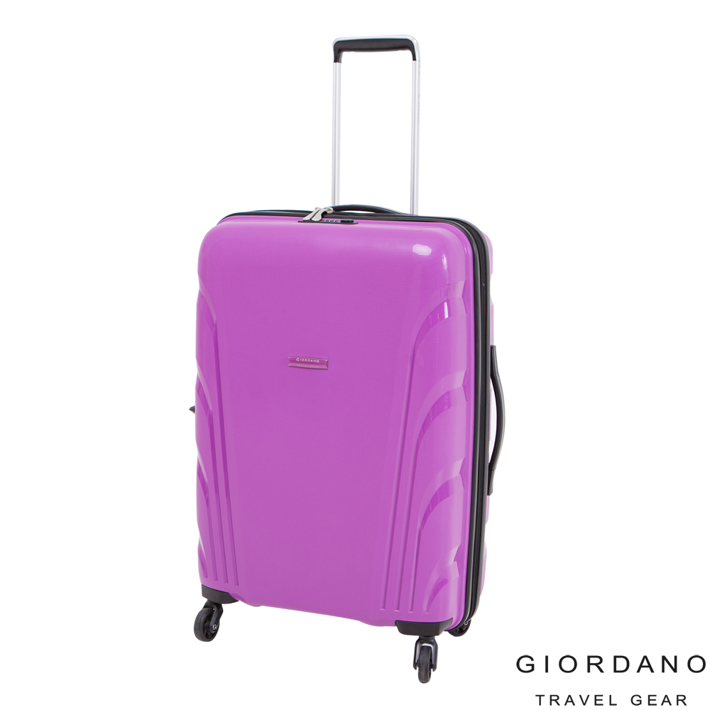 GIORDANO~ 佐丹奴 24吋繽紛羽翼系列旅行箱(紫)