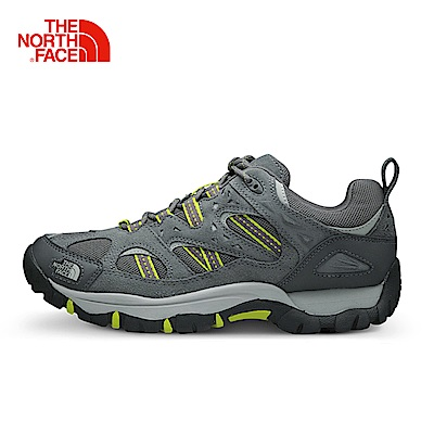 The North Face北面男款深灰色防滑透氣徒步鞋